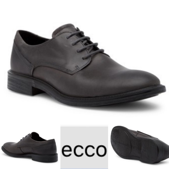 ECCO Knoxville Moonless Leather Derby- UK …